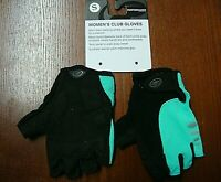 Performance Womens Club Cycling Gloves 115938 Sz Small NWT Green/Black
