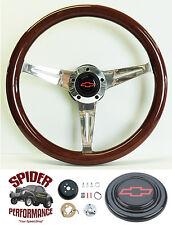 """1980-87 Chevy Pickup Blazer Suburban steering wheel BOWTIE 14 1/2"""" MAHOGANY"""