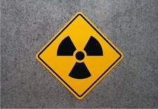 "RADIATION WARNING SIGN    /    16"" X 16"" ALUMINUM  -  ZOMBIE AREA"