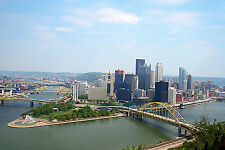 """City of Pittsburgh Mt. Washington Skyline Fleece Throw Blanket 50"""" x 60"""""""