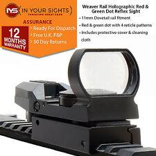 Holographique reflex vision /4 réticule rouge & vert viseur point convient 20mm