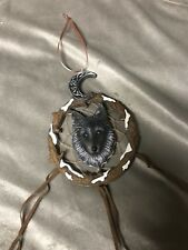 Wolf Dream lone Wolves Fantasy Mystical Dreamcatcher nemesis Now beads feather