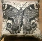 Canvas pillow French Butterfly