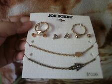 CLOSEOUT SALE! From USA! $10.99 Joe Boxer Triangle Set Earrings Ring Bracelet