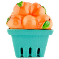 HOMEWORX BY HARRY SLATKIN Ceramic Basket of Peaches For 8 oz Drop In Candles