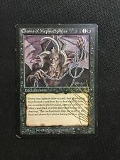 MTG Magic the Gathering - Chains of Mephistopheles - Legends - SIGNED - VG