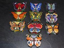 lot 10 Boites à musique Papillon en porcelaine butterfly music box colection