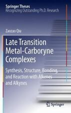 Late Transition Metal-Carboryne Complexes : Synthesis, Structure, Bonding,...