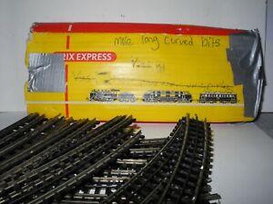 TRIX EXPRESS 12 VINTAGE HO 3 RAIL CURVED TRACKS 4324 NEW & 6596 QUAD SWITCH