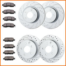 Front+Rear Brake Rotors Brake Pads For 2013 -2015 2016 2017 2018 Nissan Altima