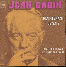 JEAN GABIN 45 TOURS FRANCE MAINTENANT JE SAIS