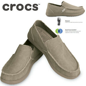 Crocs Men's Santa Cruz Slip-On Shoes Loafers - Khaki