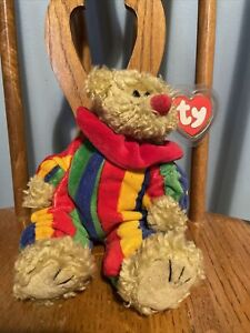 Ty Attic Picadilly The Multicolored Clown Circus Bear Mint With Mint Tags