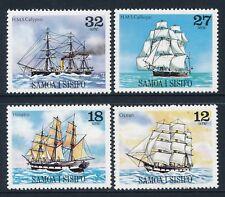 1981 SAMOA SAILING SHIPS PART III SET OF 4 FINE MINT MNH
