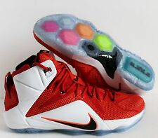 """NIKE LEBRON XII 12 """"HEART OF A LION"""" UNIVERISTY RED SZ 13 [684593-601]"""