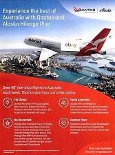 QANTAS AIRWAYS AIRBUS A380 SPIRIT AUSTRALIA 40 NONSTOPS WEEK ALASKA AIRLINES AD
