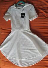 Asos petite high low hem white dress size 8