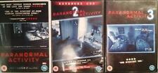 PARANORMAL ACTIVITY TRILOGY [1,2,3] Oren Peli Found Footage Horror DVD *EXC*