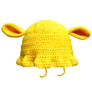 Dogs Ears Hat Women Handmade Knitted Beanie Winter Kids Caps