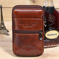 Small Leather Men Phone Flip Waist Bag Belt Loop Holster Pouch Wallet Fanny Pack