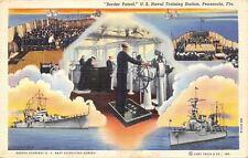 Pensacola~Border Patrol Collage~Naval Training Station~Boxing~Wheelhouse~1940 PC