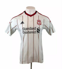 Liverpool 2010 / 2011 Away Football Shirt Adidas White Mens Medium