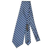 HOLLIDAY & BROWN Blue Diagonal Striped Mens Designer Silk Neck Tie Barneys NY