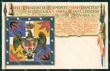 Militari V Reggimento Lancieri di Novara Dragoni Piemonte Duval cartolina XF2113