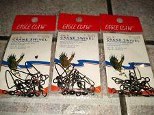 ( 3 ) Packs of 6 Eagle Claw 01122-005 Crane Swivel