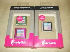 3 Snap-in Hard Case Covers for iPod Nano 6th Gen 6G, Clear Pink Green