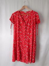 River Island Clara Oswald Cosplay Dress Doctor Who Red Floral 10 38 6