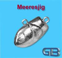 Meeresjig Dorschbombe 75g Jig Bleikopf Fischkopf Jigkopf.