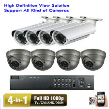 8CH H.264 1080P DVR 4-in-1 2.6MP 2.8-12mm Varifocal Lens Security Camera Sys MO)