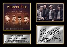 More details for westlife the twenty tour 2019 signed autographed framed print gift a4 a3 a2 a1