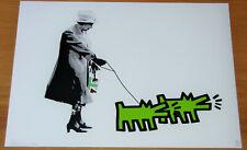 DEATH NYC Ltd Ed Print - Green Dogs Queen - NYC COA & Sticker 45x32 No. 92/100