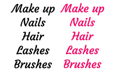 5x Beauty Drawer Organizer Label Stickers-  Make up, Brushes, Lashes