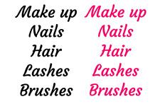 5x Organizador de cajón de belleza Etiqueta Pegatinas-maquillaje, cepillos, pestañas