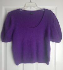 Papaya Ladie's Purple Soft Fur Knit Short Sleeve Jumper Pullover Size 14