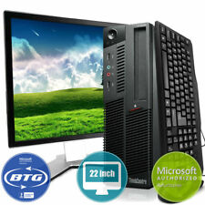 Lenovo Desktop Computer M92 PC Win 10 Intel i5 Quad Core 500GB HD 8GB 22 Monitor