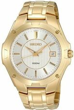 Seiko Gold Plated Band Men's Wristwatches
