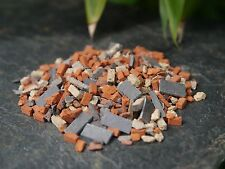 1 15g Bag 1:48 / O Gauge REAL Brick & Stone Miniature Builders Rubble 7sq ins
