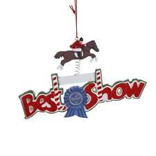 "NEW Kurt Adler 5"" Best in Show English Horse Riding Christmas Ornament J1359"