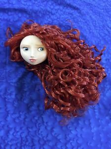 "Disney Merida Limited Edition 17"" Doll HEAD ONLY for Repaint Artists"