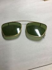 Retro Steampunk Green Clip On Sunglasses