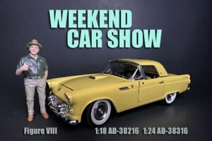 WEEKEND CAR SHOW FIGURE VIII AMERICAN DIORAMA 38216 1/18 scale Figurine