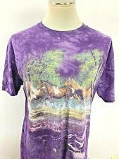 Vintage 2001 The Mountain Wild Horses Purple Tie Dye T Shirt Sz M Lil Nas X