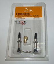 Serfas Tubeless Presta Valve Kit 32mm, 2 valves NEW for Tubeless ready tires