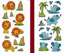 Stickers LION ELEPHANT 🐘🌴🦁  palm rock #01