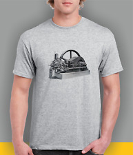 Ruston Hornsby HR stationary engine themed t-shirt.
