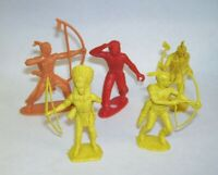 Plastic Toy Soldiers Set of Five  Indians